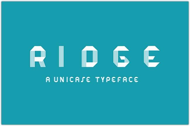 ridge-typeface