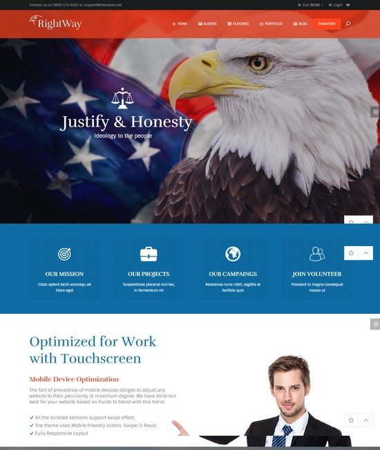 Right Way Political WordPress Theme