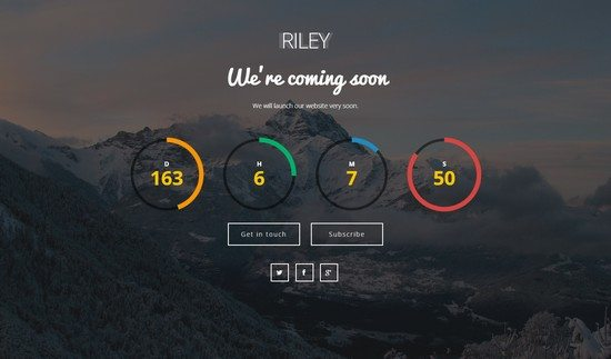 Riley - Coming Soon Page