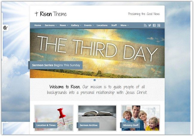 Risen – Church WordPress Theme (Responsive)