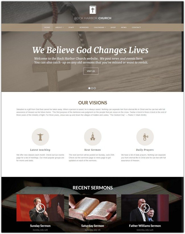 Rock Harbor – Church WordPress Theme