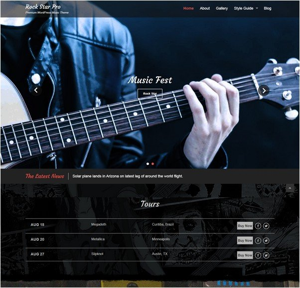 Rock Star WordPress Theme