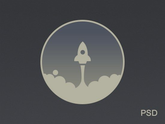 Rocket Icon Freebie PSD By Alex Pronsky
