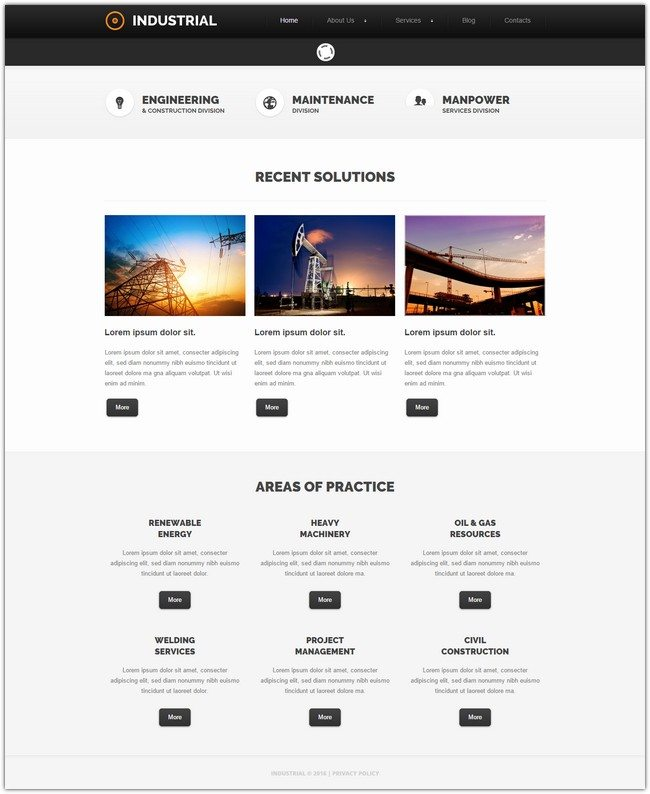 Romantic Industrial Joomla Template