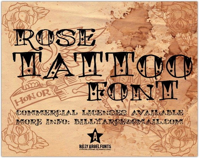 Rose Tattoo font