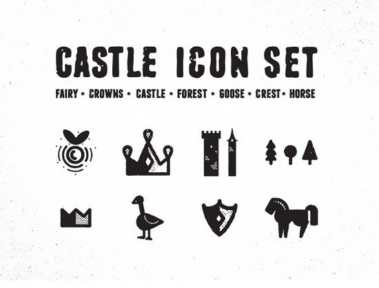 Rough Castle Icon set