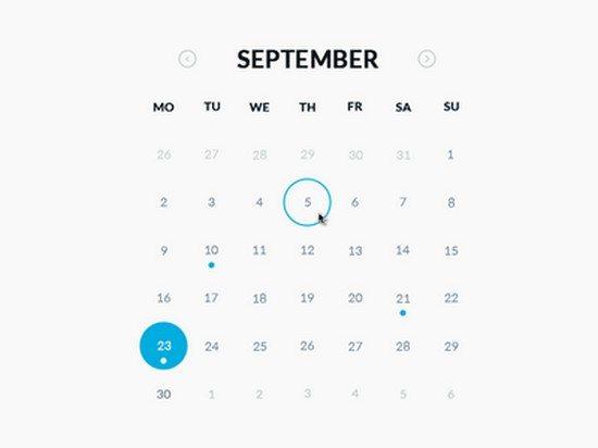 Round Calendar (.psd, HTML & CSS)
