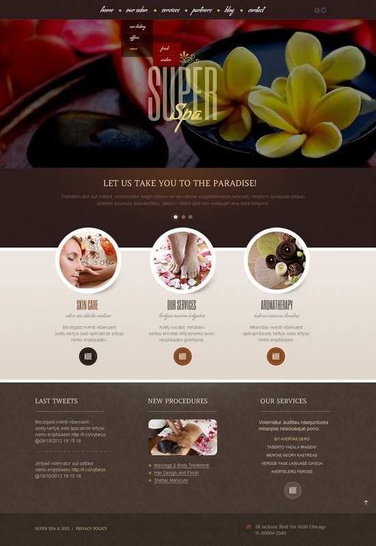 SUPER SPA Beauty Salon WordPress Theme