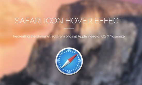 Safari Icon Hover Effect