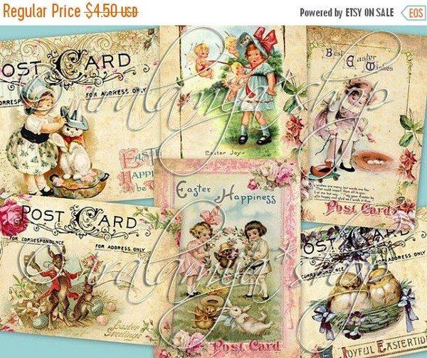 Sale Easter Postcard