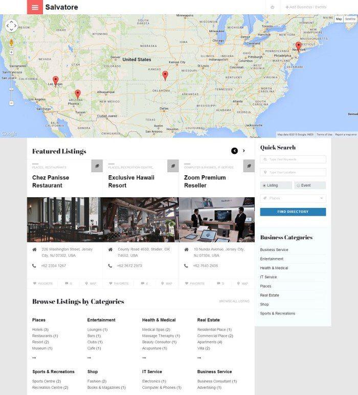 Salvatore Business Directory theme for WordPress