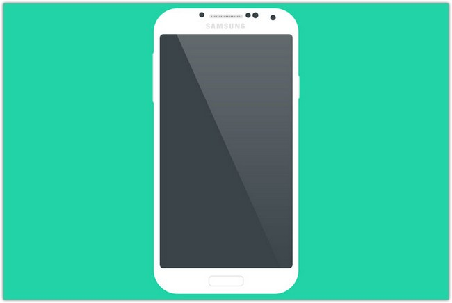 Samsung Galaxy S4 Flat Mockup