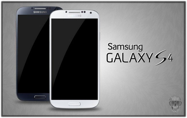 Samsung Galaxy S4 PSD Black White