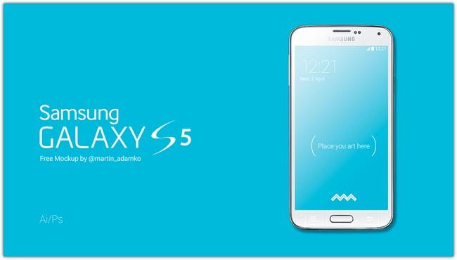 Samsung Galaxy S5 Mockups Vectors Psd