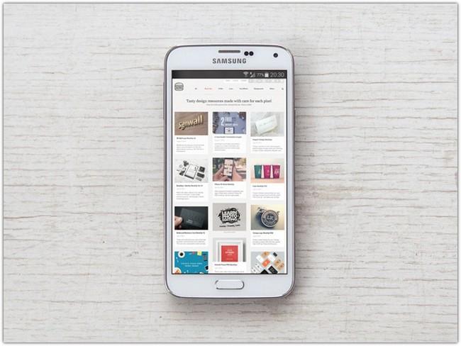Samsung Galaxy S5 PSD MockUp # 4