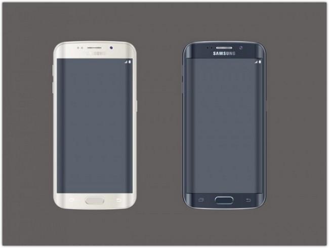 Samsung Galaxy S6 Edge PSD Mockup