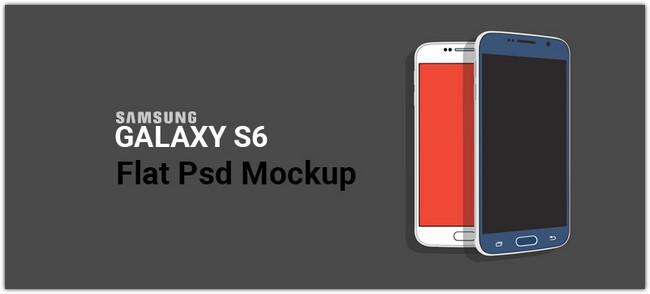 Samsung Galaxy S6 Flat PSD Mockup