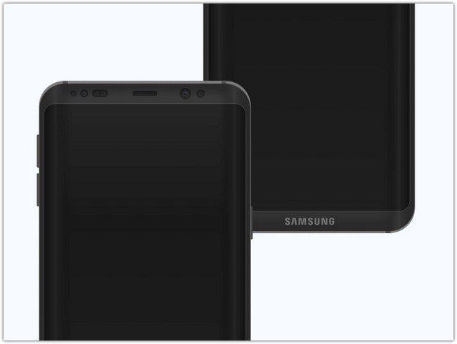 Samsung Galaxy S8 Concept Mockup