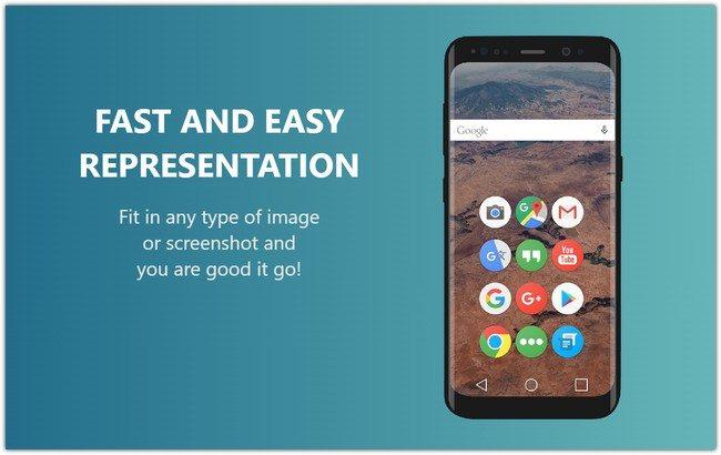 Samsung Galaxy S8 Device Mockup