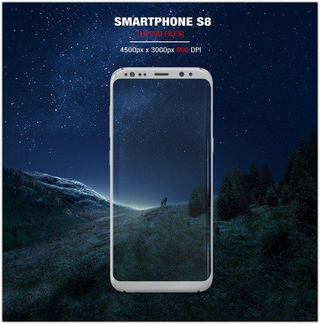 Samsung Galaxy S8 MockUp # 4