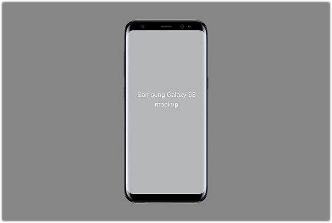Samsung Galaxy S8 Mockup (portrait)