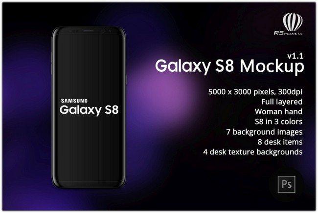 Samsung Galaxy S8 mockup