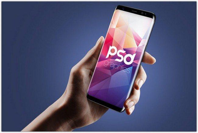 Samsung S8 Mockup Free PSD