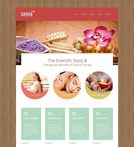 Sauna Joomla Template