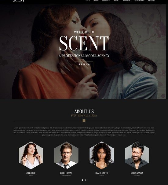 Scent - Model Agency Site Theme