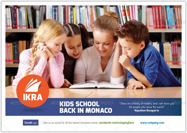 School Book Brochure Templates