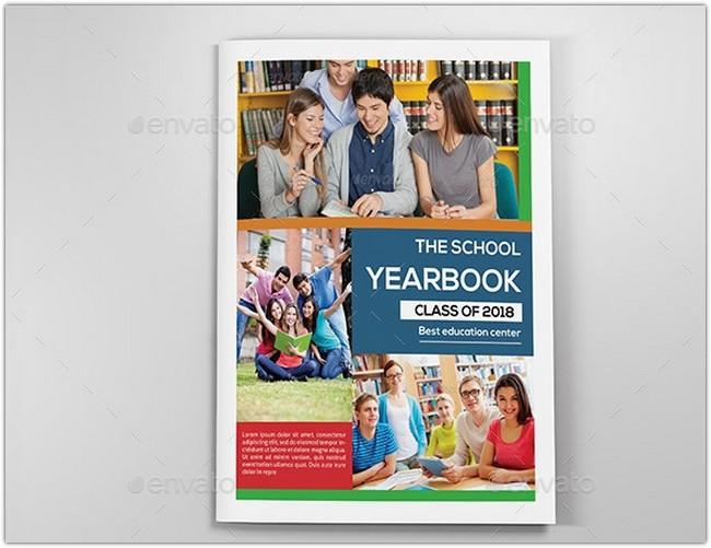School Yearbook Template-V337