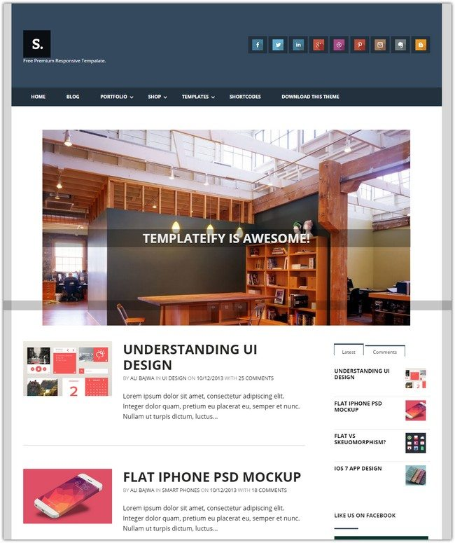Sentify Blogspot Theme