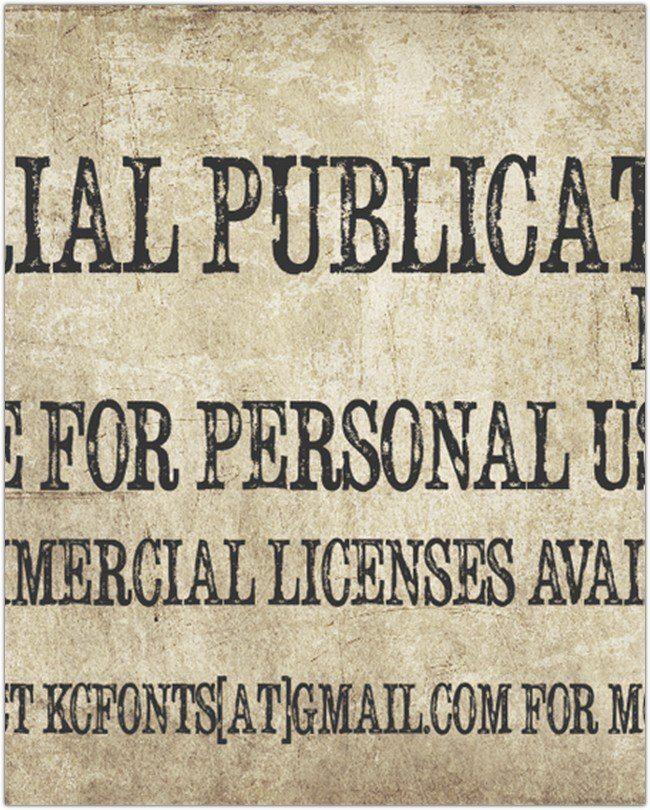 Serial Publication font