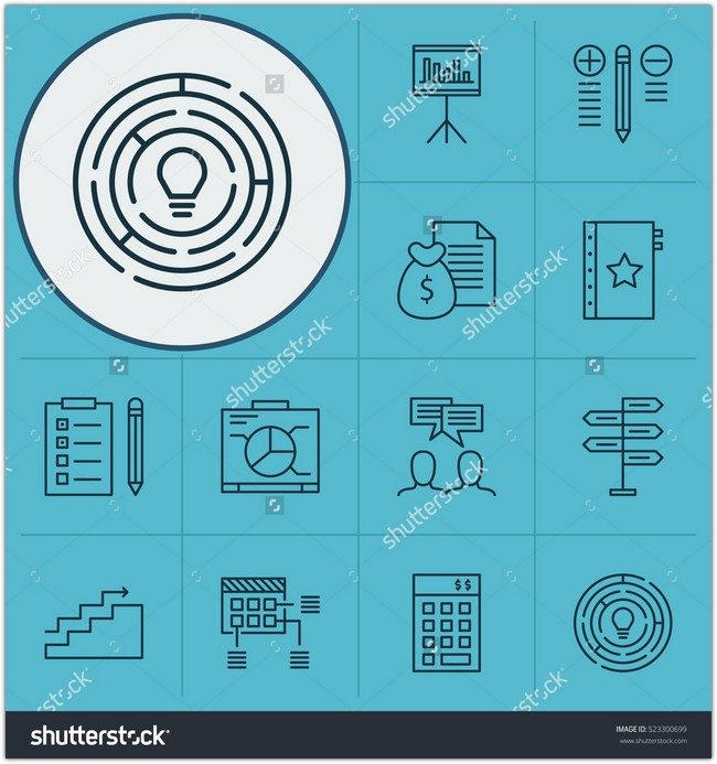 Set Of 12 Project Management Icons