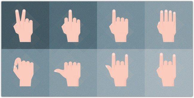 Material Design Hand Gestures