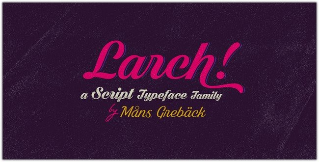 Shaded Larch Font by Måns Grebäck