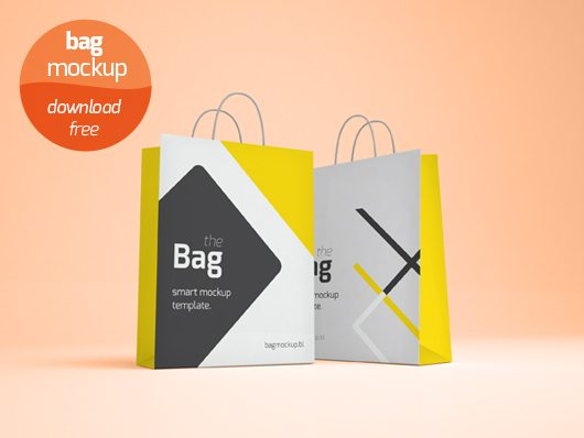 Shopping Bag Mockup (Smart Object Psd)