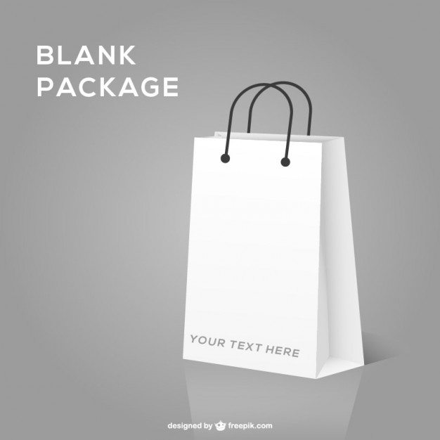 Shopping bag realistic mock-up