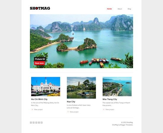 ShotMag – Minimalist Blogger Template for Photoblog