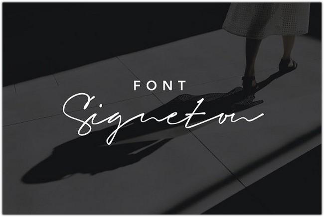 Signeton Font Script Signature