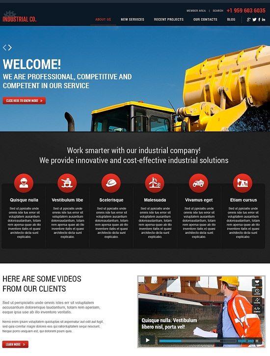 Simple Industrial WordPress Theme