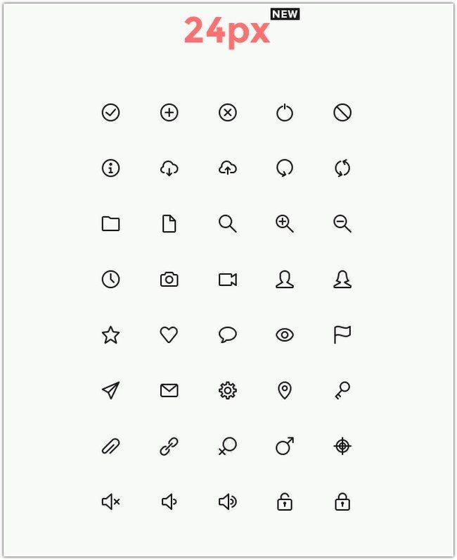Simple Line Icons Set Vol.1