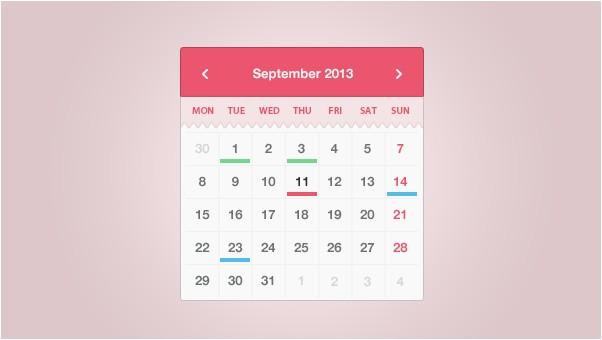 Simple & Sweet Calendar Widget