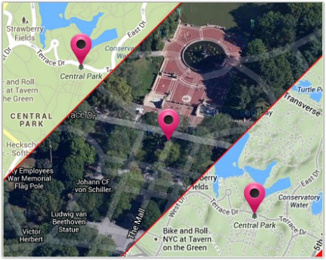 Simplified Google Maps