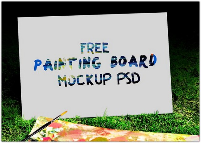 Sketch Book and Easel Painting Board Mockup PSD