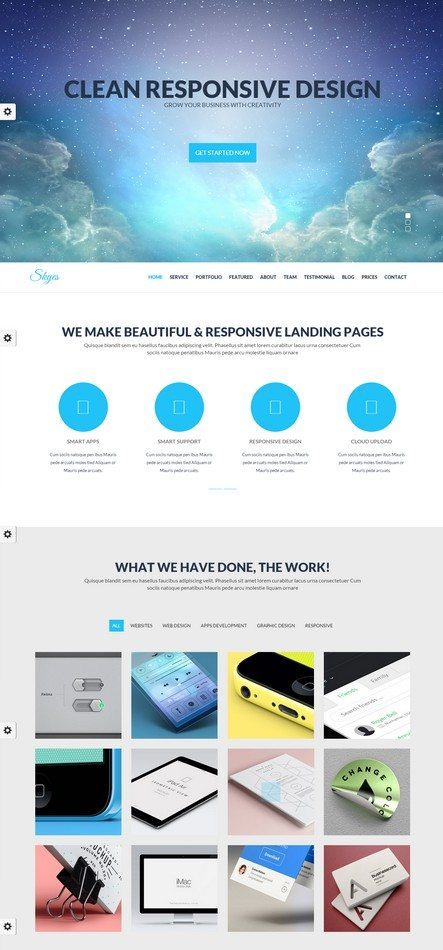 Skyes - Parallax One Page HTML Template