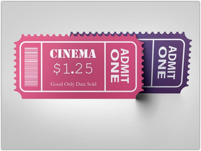 Cinema Event Ticket Mockup