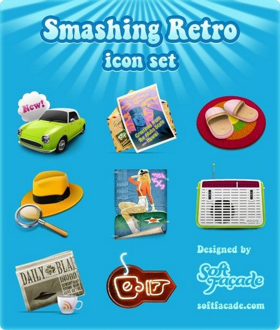 Smashing Retro Icon Set