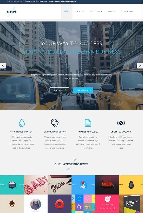 Snaps – Creative HTML5 Template