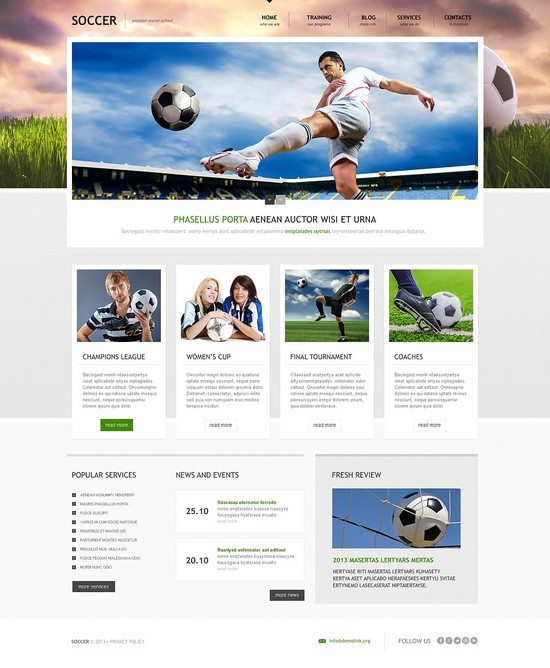 Soccer Responsive WordPress Theme